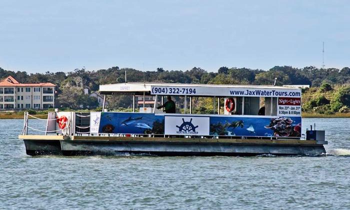 Jax Water Tours - Vilano Fishing Pier : $25 for Jax Water Tours' Pontoon Pub Crawl ($49 Value)