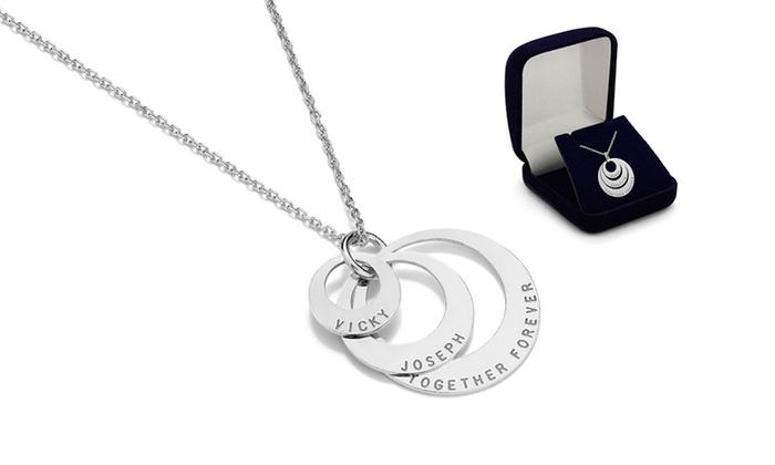 collier argent trois anneaux