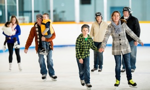 Portland Ice Arena: Ice-Skating with Skate Rentals for Two, Four, or Ten at Portland Ice Arena (Up to 57% Off)