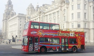 Liverpool City Sights: Hop-On-Hop-Off City Tour for Two Adults or a Family with Liverpool City Sights (Up to 55% Off)