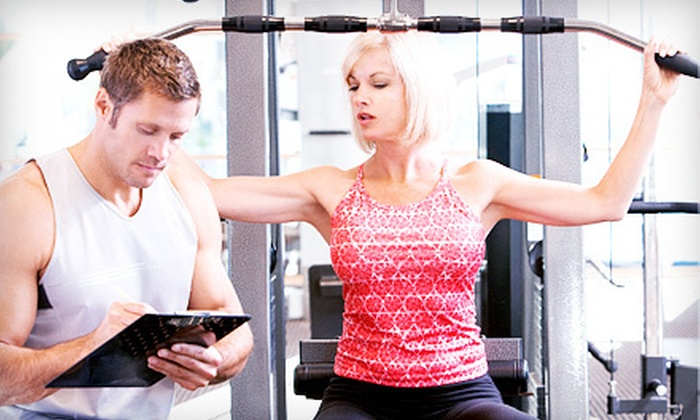 Custom Fit at Bob's Gym  - Multiple Locations: 21-Day Fat-Loss Sprint Workout Program for One or Two from Custom Fit at Bob's Gym  (Up to 77% Off)
