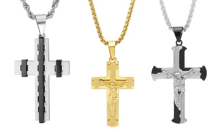 Men's Cross and Crucifix Pendants