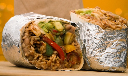 $4 for One Chicken or Veggie Burrito, or One Veggie Drunken Noodles at The Wheelhouse ($7 Value)
