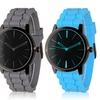 Two-Tone Silicone Strap Watch for Men and Women