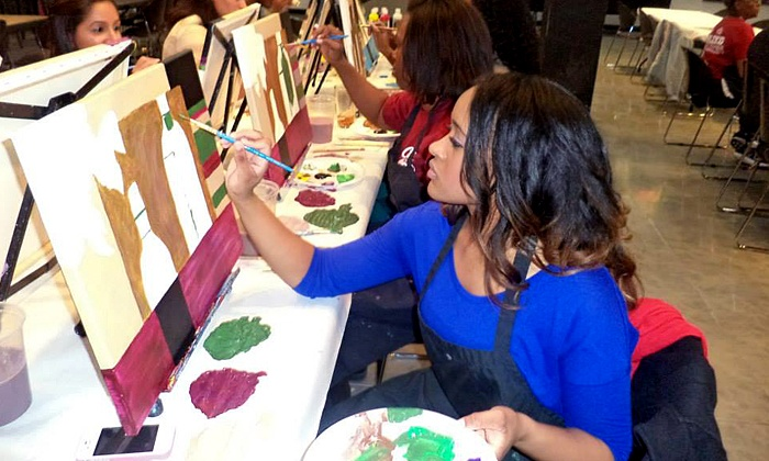 Wine and Palette California - Multiple Locations: $17 for a Three-Hour Painting Class by Wine and Palette (Up to $35 Value)