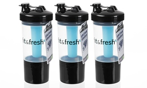 Set Of 3 Chilled Shaker Cups With Removable Ice Wands