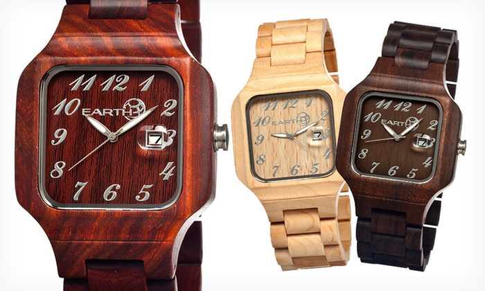 Earth Wood Unisex Watches: $58.99 for an Earth Wood Unisex Watch (Up to $150 List Price). 16 Options Available. Free Shipping and Free Returns.
