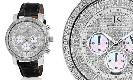 Joshua & Sons Men's Diamond Chronograph Watch