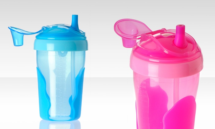 Vital Baby Toddler Straw Cup 2-Pack: Vital Baby Toddler Straw Cup 2-Pack in Blue or Pink. Free Returns.