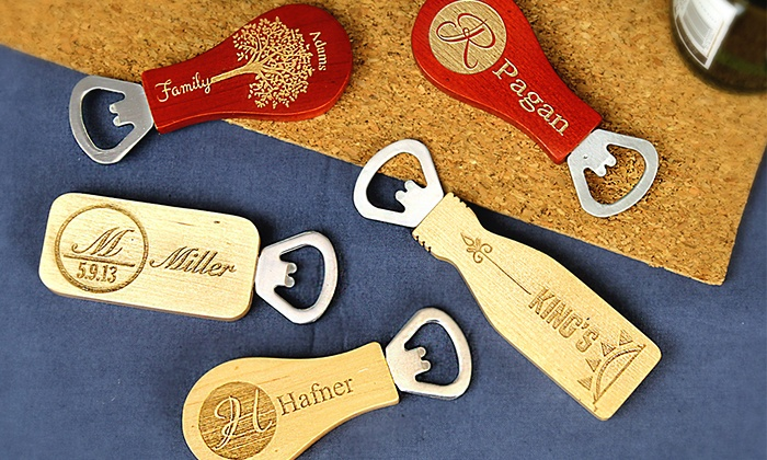 Monogram Online: 1, 2, 3, or 10 Personalized Magnetic Bottle Openers from Monogram Online (Up to 74% Off)
