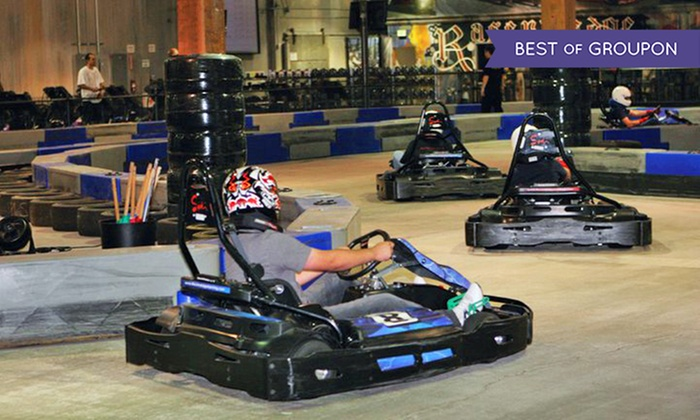 Racer's Edge Indoor Karting - Burbank: $46 for Four 16-Lap Go-Kart Races at Racer's Edge Indoor Karting ($92 Value)