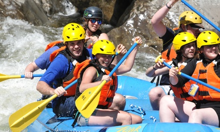 Rafting and Ziplining with Cabin Tent or Lodge Room for Two at Zoar Outdoor (Up to 34% Off)