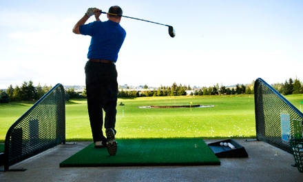$17 for Two Medium Buckets of Range Balls and Two Drinks at Tualatin Island Greens ($28 Value)