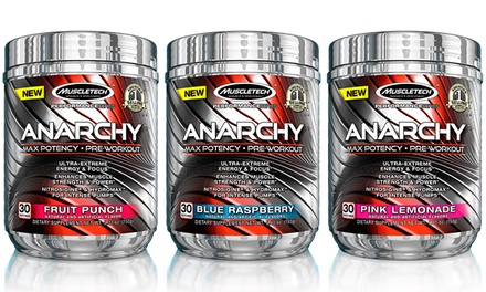 30 Servings of MuscleTech Anarchy Pre-Workout Supplement Powder