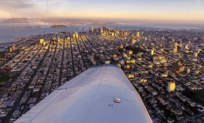 image for Intro Flight with Digital Photo for One Pilot and One Optional Passenger from Fly Bay Area (41% Off)