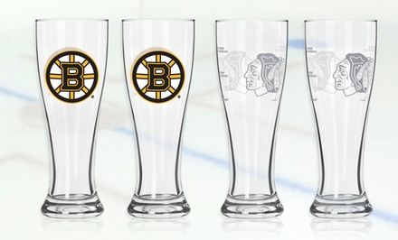 2 NHL Pilsner Glasses. Multiple Teams Available. Free Returns.
