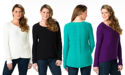 Isaac Mizrahi Women's Felicity Sweater. Multiple Colors Available.