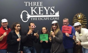 Three Keys Escape: One-Hour Escape Room Game for Two, Four, Six, or Eight at Three Keys Escape (Up to 47% Off)