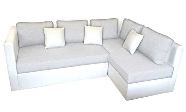 Corner sofa bed groupon goods for Sofa bed groupon