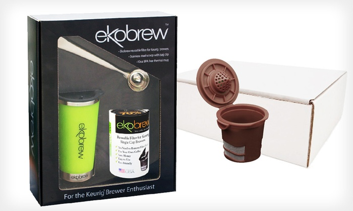 EkoBrew Filters or Starter Kit: EkoBrew Filters (Up to 55% Off). Five Options Available. Free Shipping on Purchases of $15 or More and Free Returns.