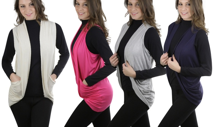 Women's Sleeveless Cardigan