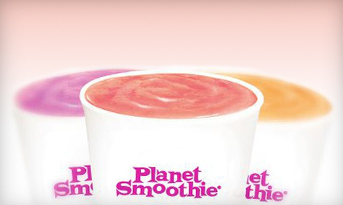 Planet Smoothie - North Attleborough: $15 for Six Groupons, Each Good for One Health-Conscious 16 Oz. Smoothie at Planet Smoothie ($29.94 Total Value)