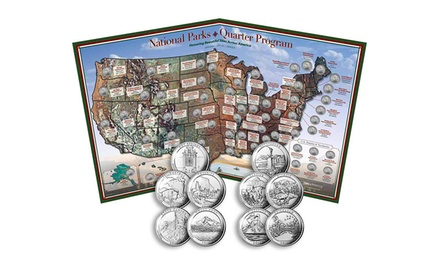 Coins of America National Parks Quarter Program Collector's Edition Map