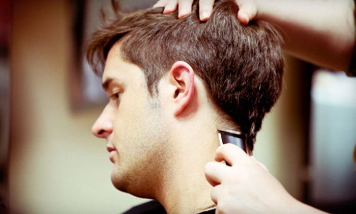 Carson's Barber Shop - Multiple Locations: Men's Hot Face Shave, or Men's Haircut and Neck Shave with Option for Face Shave at Carson's Barber Shop (Up to 56% Off)