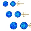 Created Opal Ball Stud Earrings in 14K Gold