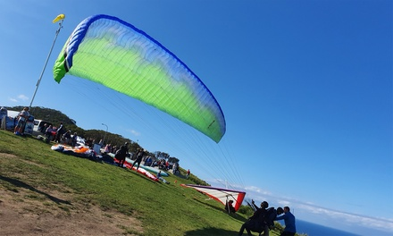 Tandem Paragliding Experience for One $155 or Two $310 at SkySurf Paragliding Sydney Up to $520 Value