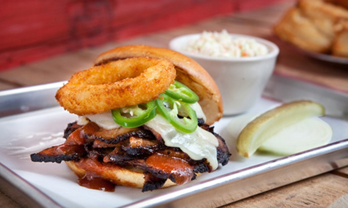 Bobbi Sue BBQ - Downtown West Palm Beach: Barbecue Food and Drinks for Two or Four at Bobbi Sue BBQ (Up to 56% Off)