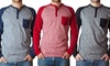 Straight Faded Men's Long Sleeve Knits: Straight Faded Men's Long Sleeve Knits