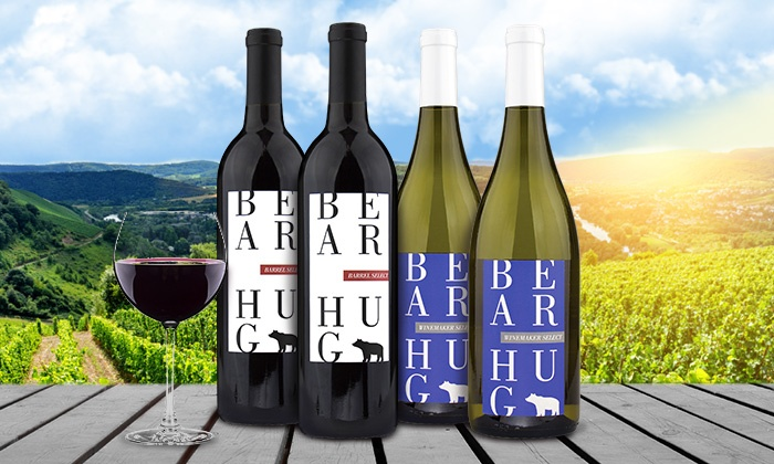 Heartwood & Oak: $49 for Four Bottles of Bear Hug Wine with Free Shipping from Heartwood & Oak ($125.91 Value)
