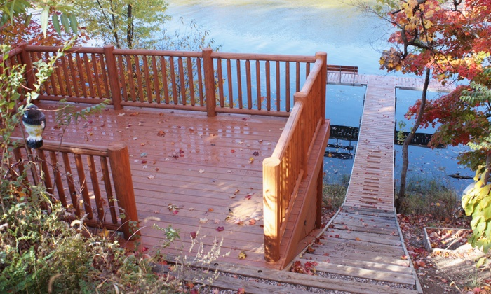 The Brilliant Finish - South Bend: $99 for Deck Refinishing, House Washing, or Garage-Floor Sealing from The Brilliant Finish ($200 Value)
