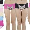 Women's Cat Printed Laser Cut Panties (6-Pack)