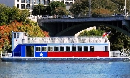 Sightseeing or Moonlight Riverboat Cruise for Two or Four from Lone Star Riverboat (Up to 75% Off)