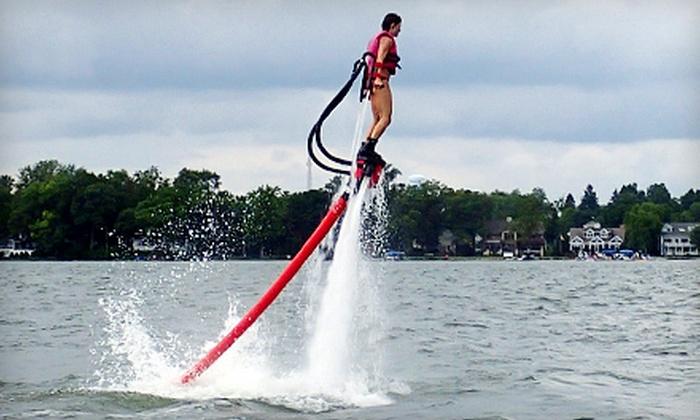 Rocketman - Near North Side: $75 for a 25-Minute Water-Propelled Flyboard Experience from Rocketman ($149 Value)