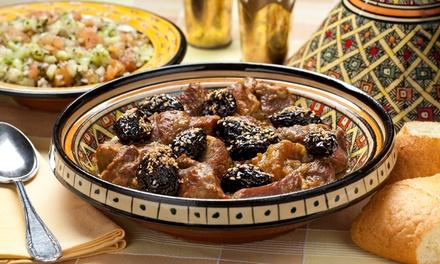 Menú árabe para 2 o 4 con aperitivo, entrantes, principal, postre, té y bebida desde 24,95 € en Árabe Del Norte