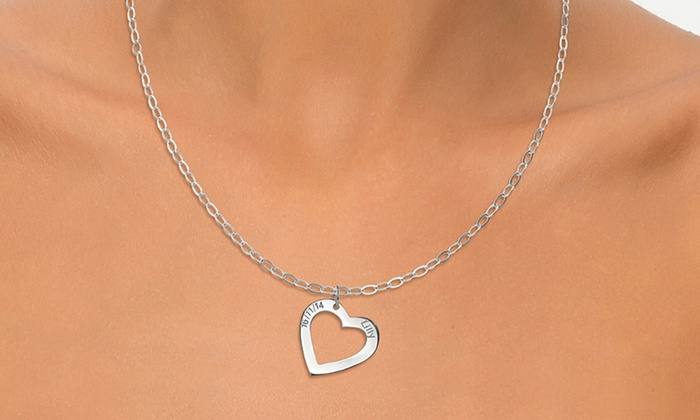 Joyali: One or Two Personalized Heart Necklaces from Joyali (Up to 54% Off)
