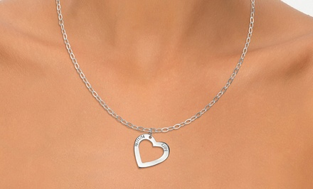 One or Two Personalized Heart Necklaces from Joyali (Up to 54% Off)