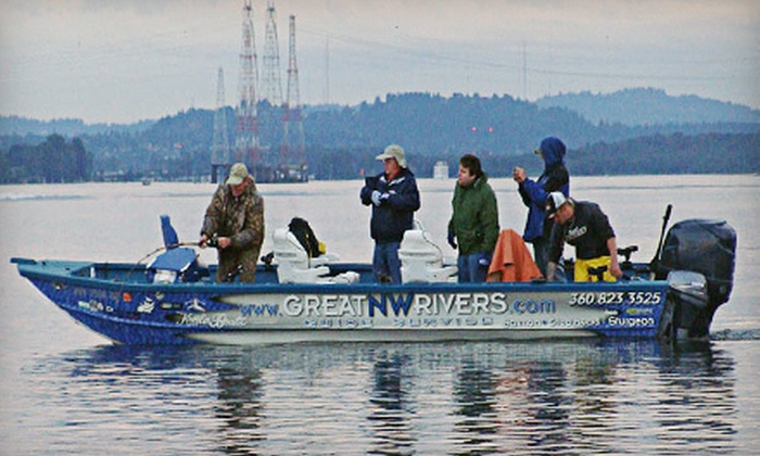 Great NW Rivers Guide Service - Multiple Locations: $89 for a Full-Day Fishing Trip with Tackle from Great NW Rivers Guide Service ($185 Value)