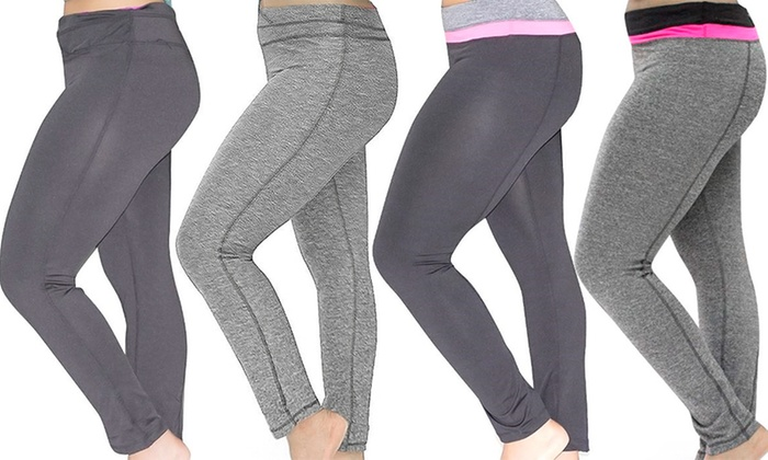 Women's Plus Size Moisture Wicking Yoga Pants | Groupon