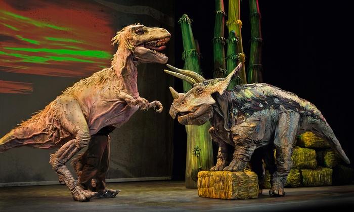 Erth's Dinosaur Zoo Live - Brown Theatre: Erth's Dinosaur Zoo Live at Brown Theatre on June 28 or 29 (Up to 59% Off)