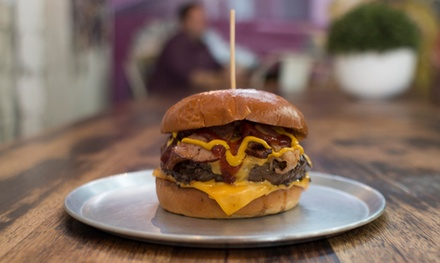 Burger with Fries and Soft Drink for One $9.90 or Two People $19.80 at Burgerlove St Kilda Up to $54.60 Value
