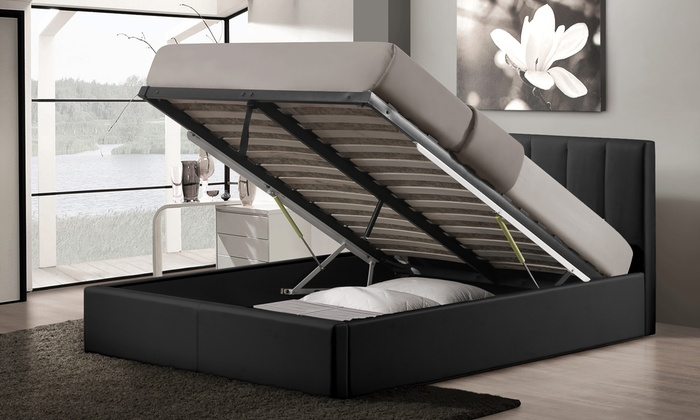 Porter Upholstered Queen Size Gas Lift Storage Bed Groupon