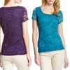 Isaac Mizrahi New York Lace Tees