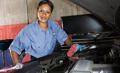 image for Full-Synthetic Oil Change, Winterization Package, or Brake Service at Woody's Service Center (Up to 58% Off)