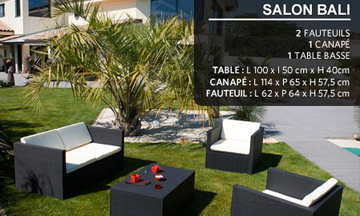 Salon de jardin textilène | Groupon Shopping