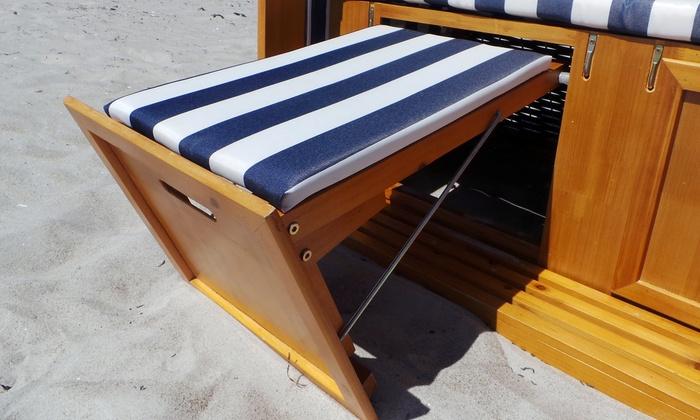 luxus strandkorb r gen groupon goods. Black Bedroom Furniture Sets. Home Design Ideas