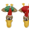 Bow Wow Pet Holiday Flat Quacks Dog Toy (2-Pack)